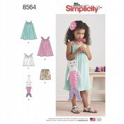 8564 Simplicity Pattern: Child's Dress, Top, Shorts and Bag